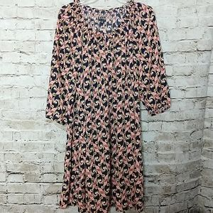 The Webster Dress  Size XL Navy Blue Pink